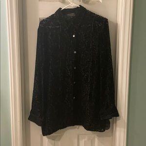 Spenser Jeremy burnout velvet shirt nwot